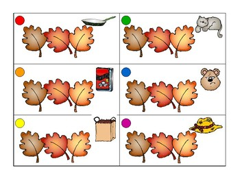 Fall short vowel/cvc words