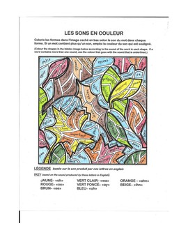 Fall sounds and colours: a hidden image using French phonetics