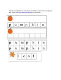 Fall spelling activity