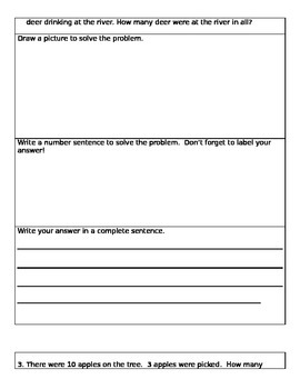 Fall story problems/ word problems/ number stories