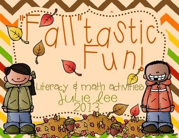 Fall Centers Math & Literacy Kindergarten