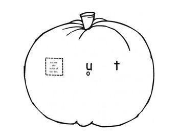 Fall theme pumpkin vowel spinner