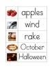 Fall theme word wall