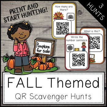 Fall Activity - QR Code Scavenger Hunt