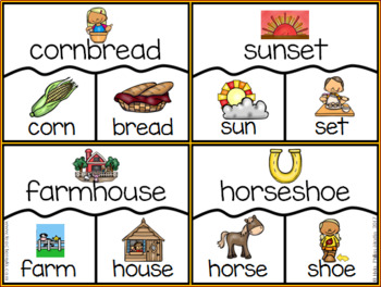 Fall themed Compound Word Puzzles