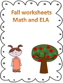 Fall themed ELA and Math worksheets-Kindergarten