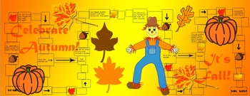 Fall Themed Educational Learning Board Game Set for entire class
