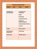 Fall-themed Formal Lesson Plan Template