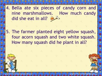 """""""Fall"""" themed MATH addition and subtraction problems"""