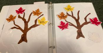 Fall-themed Math Addition Center Activity