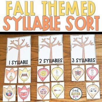 Fall themed Math and Literacy Center Activity Bundle
