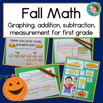 Fall themed Math for First Grade: word problems, graphing