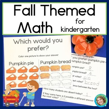Fall themed Math for Kindergarten