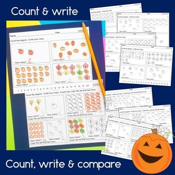 Fall themed Math for Kindergarten  NO PREP!
