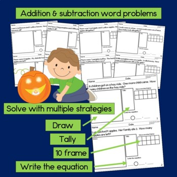 Fall Math for Kindergarten  NO PREP!