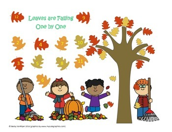Fall themed Roll and Cover Game 2-12