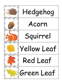 Fall themed Word Wall Theme for preschool and daycare teachers.