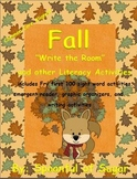 "Fall themed ""Write the Room"" and other Literacy and Math Activites"