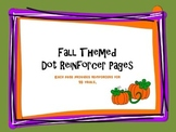 Fall themed dot reinforcers