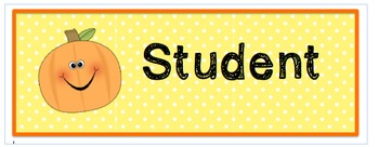 Fall themed name tags