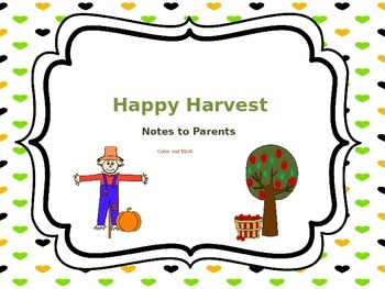 Fall themed reproducible letter to parents