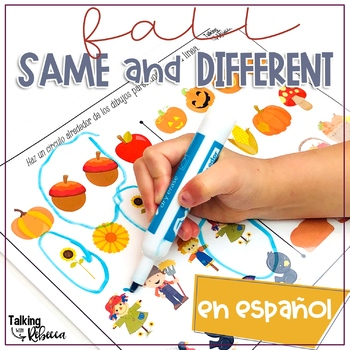 Fall themed same and different activities in Spanish