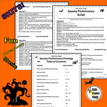 Halloween and Thanksgiving themed scripts bundle