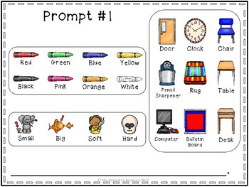 Fall to Winter Sight Word Writing Prompts