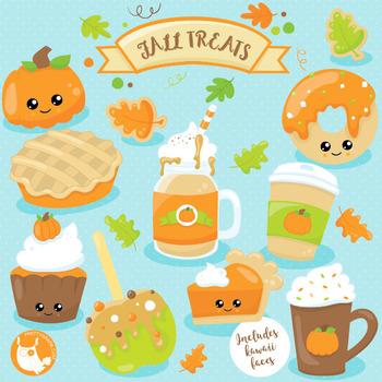 Fall treats clipart commercial use, vector graphics, digital  - CL1019