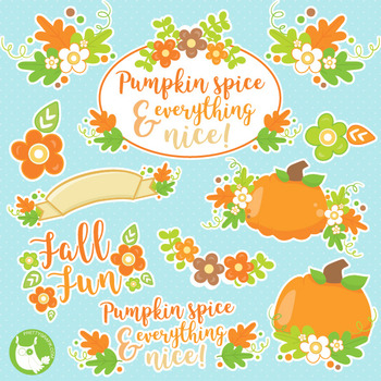 Fall treats clipart commercial use, vector graphics, digit