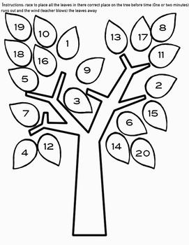 Fall tree numbers 1-20 game