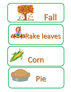 Fall vocabulary bundle
