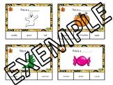 Fall vocabulary task cards