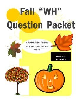 "Fall ""wh"" question bundle"