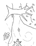 Fall wind coloring page