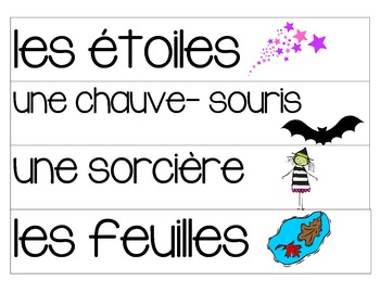 Fall words- French Immersion