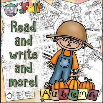 Fall, Thanksgiving, Halloween literacy activities!