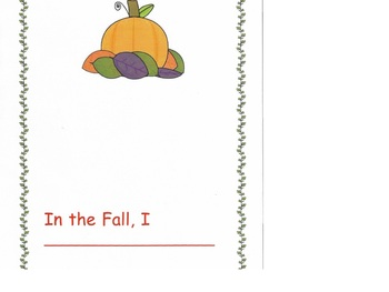 Fall writing activity