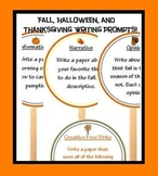 Fall writing prompts, Halloween Writing Prompts, and Thanksgiving  prompts