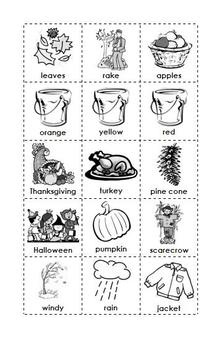 Fall/Autumn BINGO Activity!