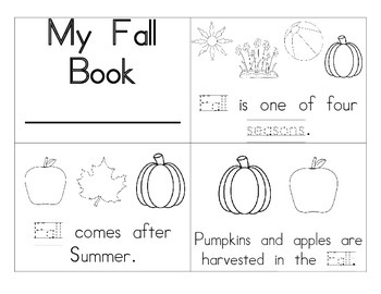 Fall/Autumn Booklet