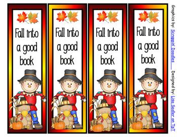Fall/Autumn Bookmarks