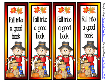 Fall/Autumn Bookmarks
