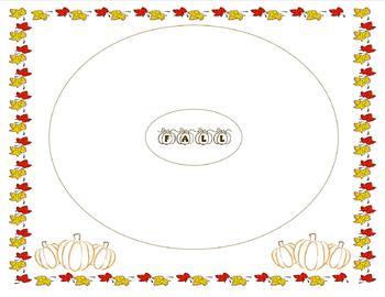 Fall/Autumn Circle Map