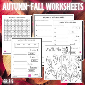 Fall/Autumn Coloring Page {FREEBIE}