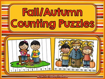 Fall/Autumn Counting Puzzles