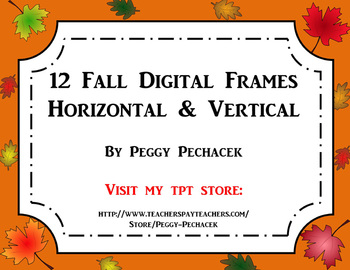 Fall/Autumn Digital Frames