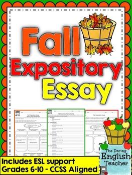 Fall/Autumn Expository Essay - Grades 6-10 - CCSS Aligned