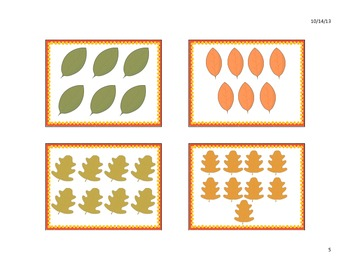 Fall/Autumn Leaf Matching Cards
