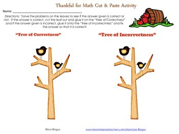 Fall/Autumn Solving Two-Step Equations with Integers